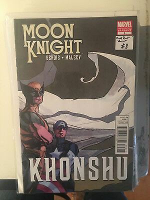 MOON KNIGHT #3 VF/NM 2nd Print VARIANT Bendis Maleev Captain America Wolverine