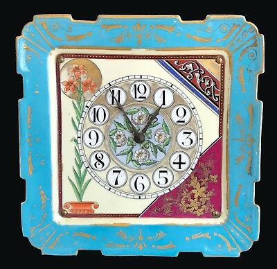 Aesthetic Movement Porcelain Clock c.1880 Possibly Havilland