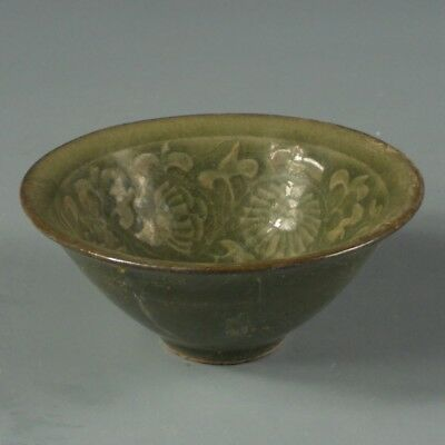 Antique Chinese Porcelain Cup with Flowers Pattern Vintage Asian Ceramic Art