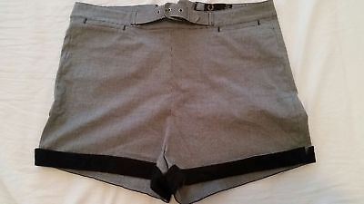 Fred perry Amy Winehouse shorts check grey UK 12 EU 40 high waisted 60's mod