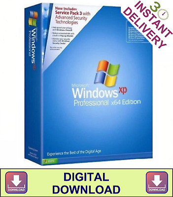 WINDOWS XP PROFESSIONAL 64 Bit Re-Install Repair Recovery ISO (Digital  Download)