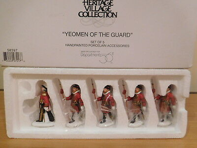 Dept 56 Dickens Village - Yeomen of the Guard - 5 Piece Set