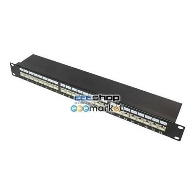 """Good Connections Patchpanel 19"""" 1HE Cat.6A 24port GC-N0012"""