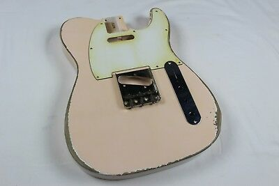 MJT Official Custom Vintage Aged Nitro Guitar Body Mark Jenny VTT Shell Pink