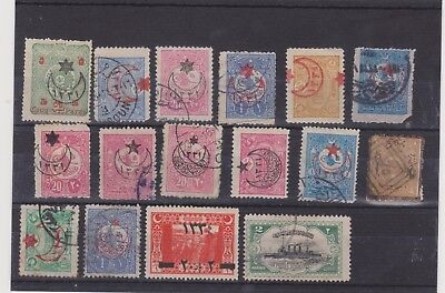Various Ottoman empire stamps, including War Charity 1915/16