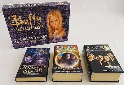Buffy the Vampire Slayer 7 x Hardback Books & Board Game Wicked Willow Omnibus