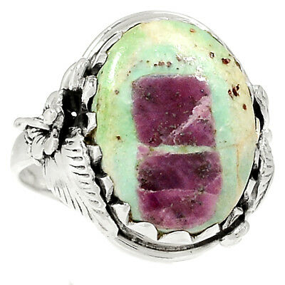 Ruby In Fuchsite 925 Sterling Silver Ring Jewelry s.9 RR79985