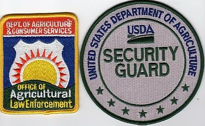 USDA DEPARTMENT of AGRICULTURE POLICE SECURITY LAW ENFORCEMENT -  PATCH SET!