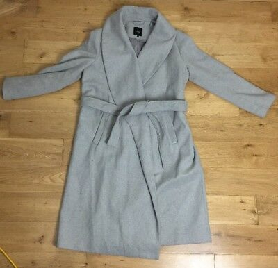 New Look Size 14 Grey Maternity Coat Great Condition Soft
