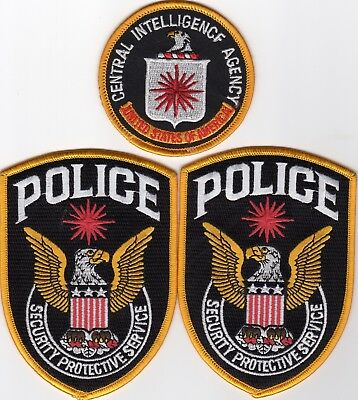 CIA - CENTRAL INTELLIGENCE AGENCY POLICE patches