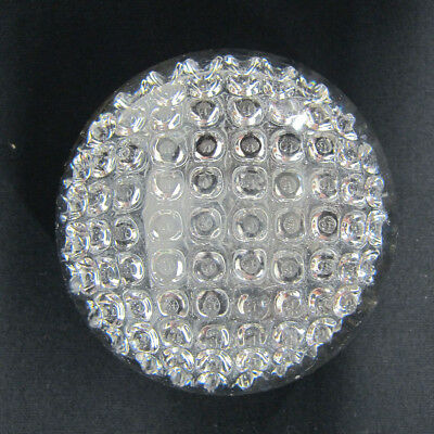 """Unique! Mid Century Modern Vintage """"Golf Ball"""" Crystal Art Glass Paperweight yqz"""
