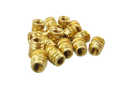 500 #8-32 Brass Threaded Inserts Heat Set for Screws 3D Printing Plastic (Long)