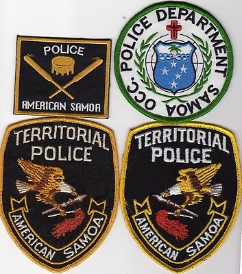 AMERICAN SAMOA  TERRITORIAL POLICE patches
