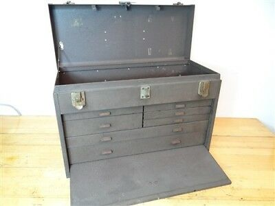 """Kennedy Machinist Tool Box 7 Drawer + Front Cover  20"""" X 14"""" X 9"""""""