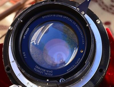 Incredible Vintage Bausch And Lomb Aero Tessar 24 Inch (610Mm) F6 Special Lens