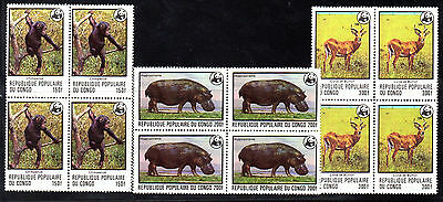 Congo, Sc. ##456-8, Block of 4, MNH OG 116.00. RG4.023