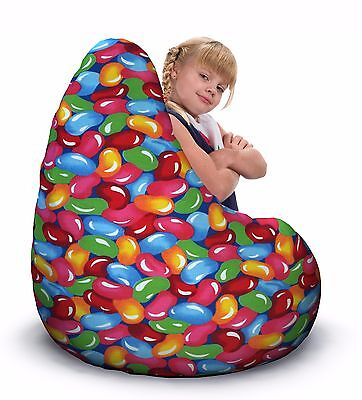 Child bean bag,  Jellybean print
