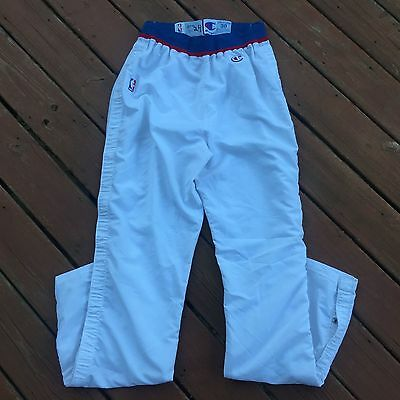 Champion Game Worn 1991 Washington Bullets Tom Gugliotta Warmup Tearaway Pants