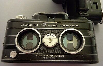 VIEW-MASTER 35MM  Personal Stereo Camera Flash attachment 1952 f.3.5/25mm lens