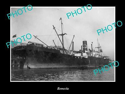 OLD LARGE HISTORIC MERCHANT SHIP PHOTO OF THE STEAMSHIP SS BENECIA c1920s