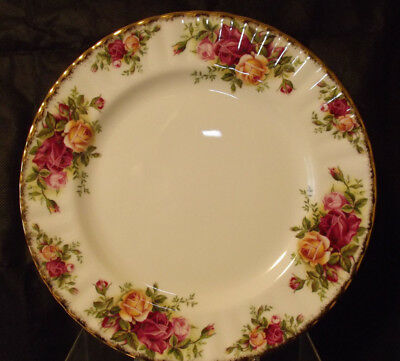 "New Royal Albert 1962 Old Country Roses Bone China 8-1/8"" Salad Plates-England"