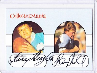 Terry Hughes & Barry Russell Signed Dual Card  #7 Of 15 Cards Only