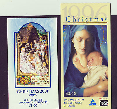 Australia Stamp Booklets Christmas 1996 And 2001      Ref 802