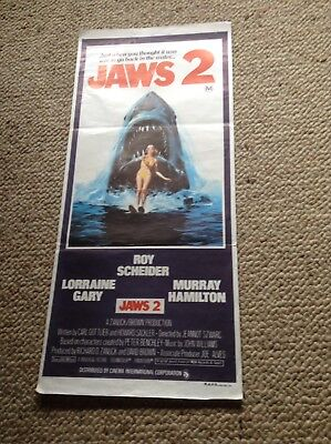 Orig Daybill Movie Poster JAWS2