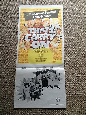 "Orig Vintage Daybill Movie Poster ""That's carry On"""
