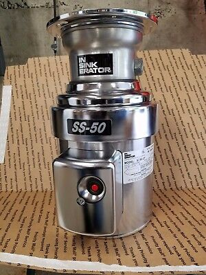 InSinkErator SS-50-27 Garbage Disposal Commercial 1/2 HP Disposer New SS-50