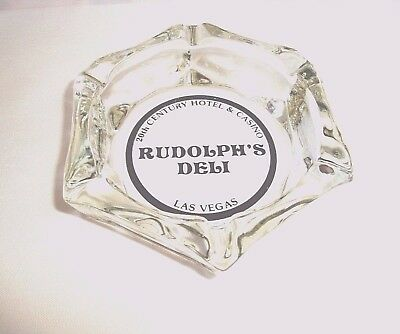 Scarce 20th Century Hotel & Casino Ashtray Ad for Rudolphs Deli Las Vegas Nevada