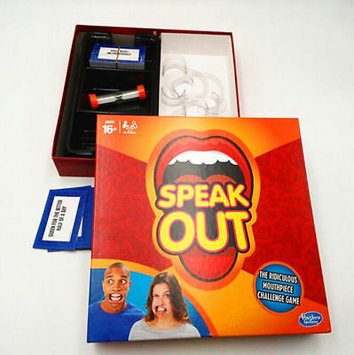 Christmas SPEAK OUT Board Game Funny Mouthpiece Mouth Guard Party Family Games
