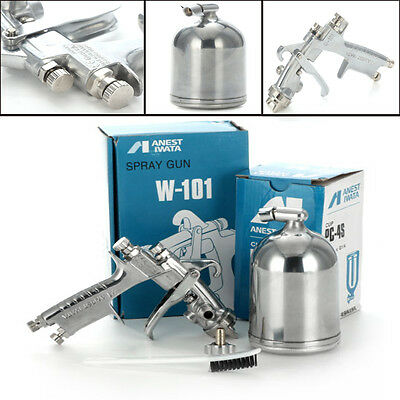 ANEST IWATA W-101 HVLP Gravity Feed Paint Spray Gun 1.0/1.3/1.5/1.8mm With Cup Y