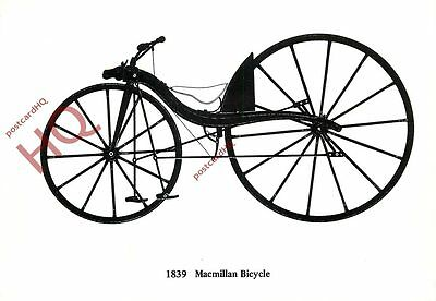 Picture Postcard- 1839 MACMILLAN BICYCLE