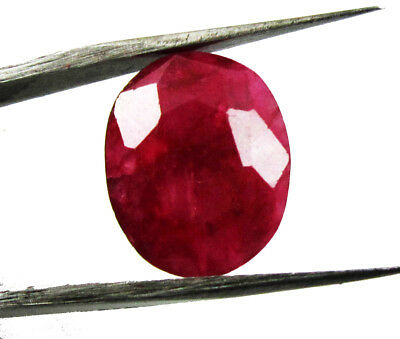 9.55Ct. Natural Oval Cut Translucent Loose Red Ruby Gemstone  ks 6423