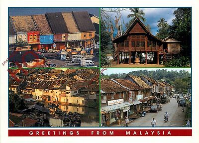 Picture Postcard; Malaysia (Multiview) Traditional Houses