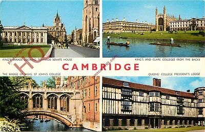 Picture Postcard:-Cambridge (Multiview)