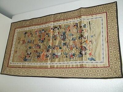 Vintage Chinese needlepoint silk embroided / Embroidery tapestry