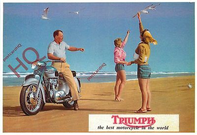 Picture Postcard::TRIUMPH MOTORCYCLE (REPRO)