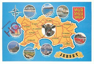 Picture Postcard: Jersey, Map