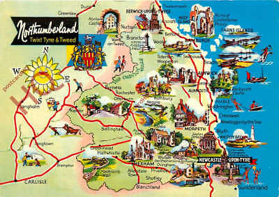 Picture Postcard: Northumberland, Map [Dennis]