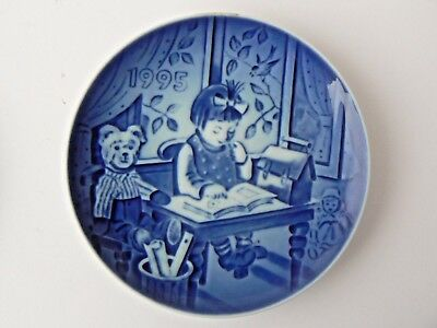 "Hard to Find Bing & Grondahl Children's Day Plate - 1995 ""My First Book"""