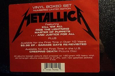 Metallica - Vinyl Box Set - SEALED - 4119 / 5000