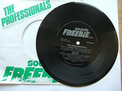 Gillan /i'll Rip Your Spine Out +The Professionals/ Little Boy -Flexi 7'' Single