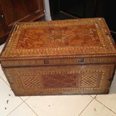 19Th Century Ottoman Marquetery Chest