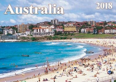 AUSTRALIA 2018 12 Month A5 Wall Calendar NEW from Topmill 21cm x 15cm