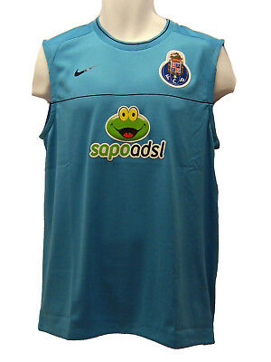 New NIKE PORTO DriFit Football Training Vest Sleeveless Shirt Turquoise L Large