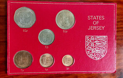 States of Jersey coin set, 6 coins