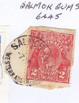 *WA POSTMARKS.SALMON GUMS.Type A25.On 2d KGV.CTS.Rated3.*