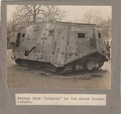 German Tank Schnuck on The Horse Guards Parade.